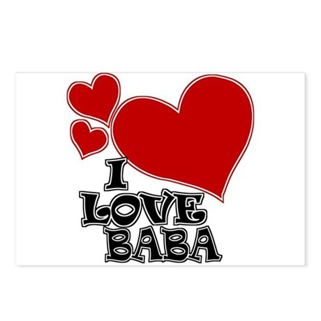 I Love Baba Postcards (Package of 8)