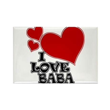 I Love Baba Rectangle Magnet