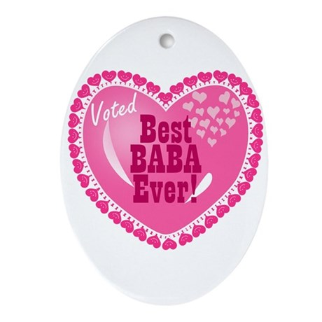 Best Baba Ever Oval Ornament