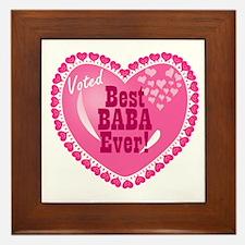 Best Baba Ever Framed Tile