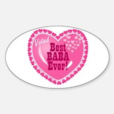 Best Baba Ever Oval Decal
