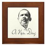 A New Day Framed Tile