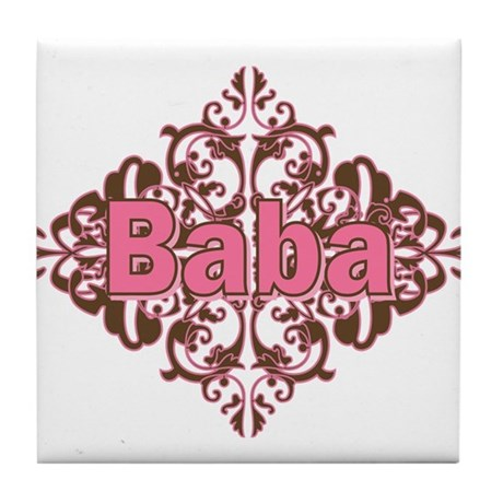Personalized Baba Tile Coaster