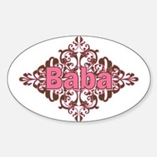 Personalized Baba Oval Decal