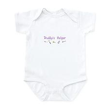 Daddy's Helper Infant Bodysuit (purple)