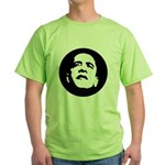 Obama Face Green T-Shirt
