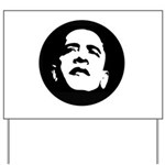 Obama Face Yard Sign