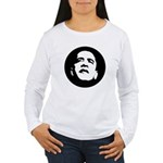 Obama Face Women's Long Sleeve T-Shirt