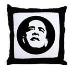 Obama Face Throw Pillow