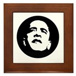 Obama Face Framed Tile