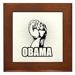 Obama Power Framed Tile