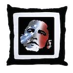 Obama Stars and Stripes Throw Pillow