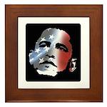 Obama Stars and Stripes Framed Tile