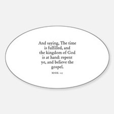 MARK 1:15 Oval Decal
