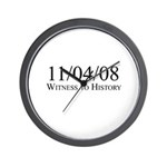 Witness to History 11/04/08 Wall Clock