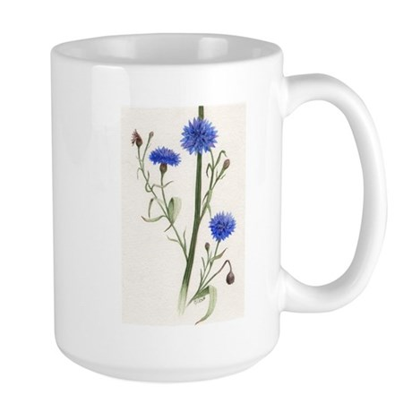 Blue Cornflower Large Mug