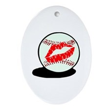 Baseball (Kiss) Oval Ornament