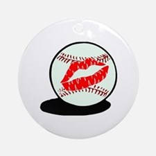 Baseball (Kiss) Ornament (Round)