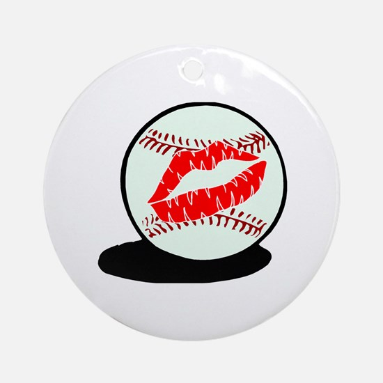 Baseball (Kiss) Ornament (Round)