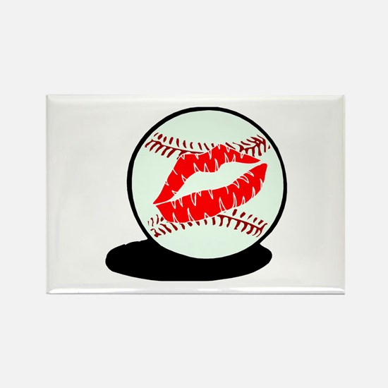 Baseball (Kiss) Rectangle Magnet