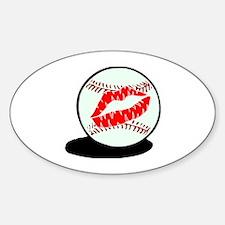 Baseball (Kiss) Oval Decal