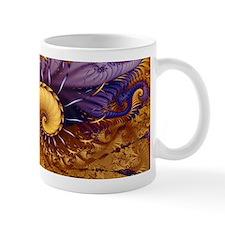 """Blue Gold"" Fractal Art Mug"