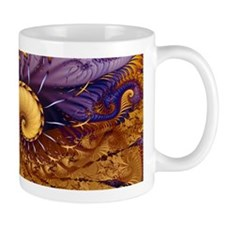 """Blue Gold"" Fractal Art Mug"
