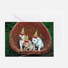Yellow Lab Puppies Birthday Card