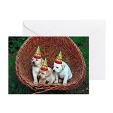 Yellow Lab Puppies Birthday Cards (Pk of 10)