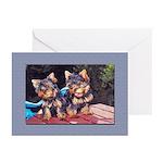 Retro Yorkie Greeting Cards (Pk of 10)