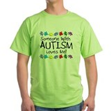 Autism love Green T-Shirt