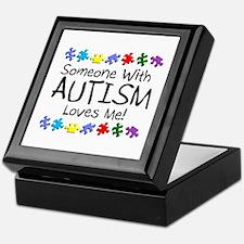 Someone With Autism Loves Me! Keepsake Box