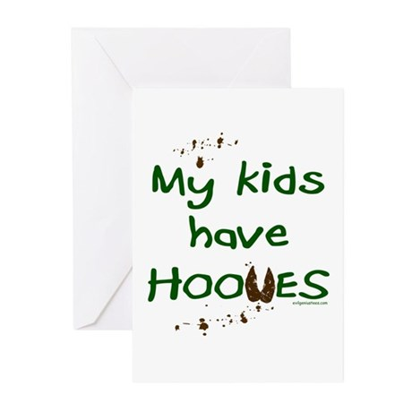 My kids have hooves Greeting Cards (Pk of 10)