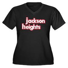Jackson Heights - Women's Plus Size V-Neck Dark T-