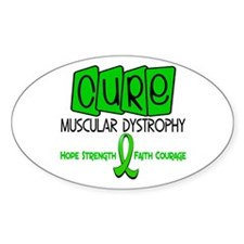 CURE Muscular Dystrophy 1 Oval Decal