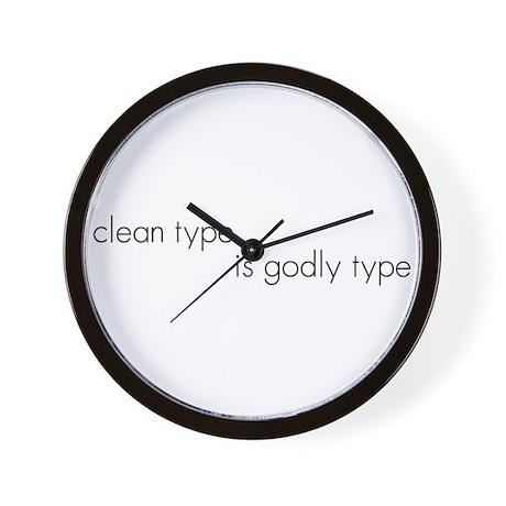 Clean Type Wall Clock by worldsendimages