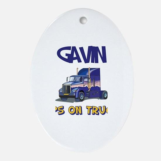 Gavin the Tank Engine Oval Ornament