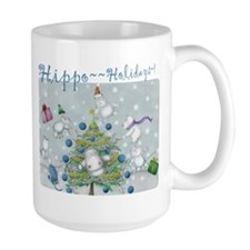 Hippo Holidays Super~Large Mug!
