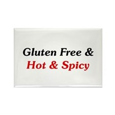 Gluten Free & Hot & Spicy Rectangle Magnet