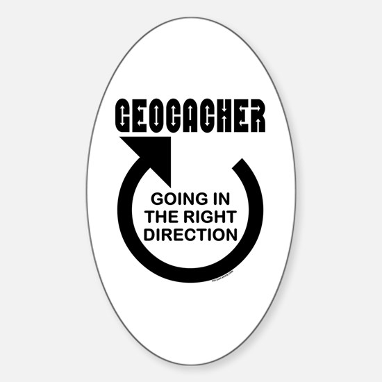 Right Direction Oval Decal