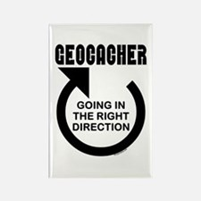 Right Direction Rectangle Magnet