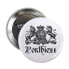 "Ponthieux Last Name Family Crest 2.25"" Button"