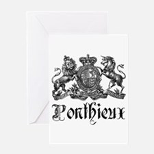Ponthieux Last Name Family Crest Greeting Card