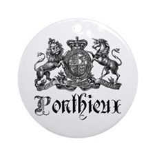 Ponthieux Last Name Family Crest Ornament (Round)