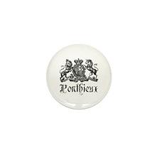 Ponthieux Last Name Family Crest Mini Button (100