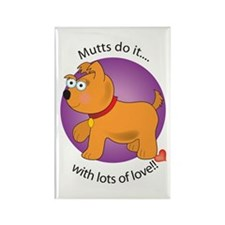 Mutts Do It Rectangle Magnet