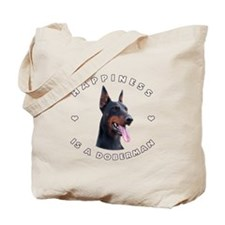 Happiness is a Doberman! Tote Bag