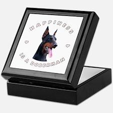 Happiness is a Doberman! Keepsake Box