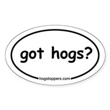 Wild Hog Oval Decal