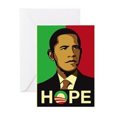 Obama for Hope Greeting Card